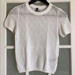 H&M Sheer Knit T-Shirt
